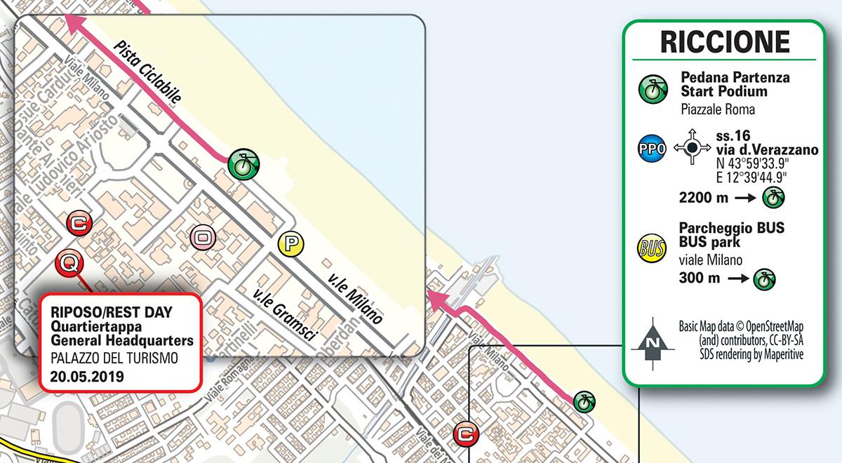 Cartina Italia Riccione.Tappa 9 Giro D Italia 2021 Sito Ufficiale
